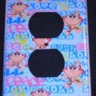 American Kids MONKEY OUTLET COVER  Peace Love & Rock n Roll Monkey CUTE!