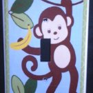 M is for MONKEY LIGHT SWITCH plate Monkey single switch plate Lambs & Ivy