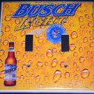 BUSCH LIGHT BEER DOUBLE LIGHT SWITCH COVER  Unique LOOK! NEW Double Switch Plate
