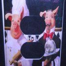 French PIG CHEF OUTLET COVER Kitchen Decor Electrical outlet plate cover