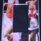French PIG CHEF Rocker Light Switch plate / GFI OUTLET COVER Kitchen Decor