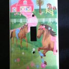 Circo PRETTY HORSES LIGHT SWITCH plate Horses single switch plate Adorable!