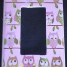 Circo LOVE and NATURE OWL GFI OUTLET / ROCKER LIGHT SWITCH Plate PINK CUTE!