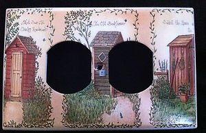 Linda Spivey OUTHOUSES OUTLET COVER Bathroom Decor Horizontal Instal