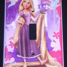 TANGLED Rapunzel  LIGHT SWITCH COVER Beautiful Purple & Pink Single Switch Plate