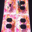 TANGLED Rapunzel  LIGHT SWITCH & OUTLET COVERS Pretty Flowers 1 switch 3 outlets