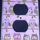 Circo LOVE and NATURE OWL OUTLET plate cover Owls outlet plate PINK CUTE!