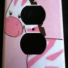Jungle Jill ZEBRA OUTLET plate cover Pink Zebra outlet plate CUTE Nursery Decor