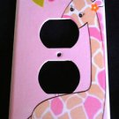 Jungle Jill Giraffe OUTLET plate cover Pink outlet plate CUTE Nursery Decor