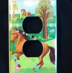 Circo PRETTY HORSES OUTLET plate Cover Horses Nursery Decor  Adorable!