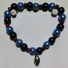 Handmade TENNESSEE TITANS Football Team Colors BRACELET Pearl Stretch Bracelet