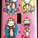 BOBBY JACK LIGHT SWITCH COVER * Text Me LOL * Monkey PINK CUTE!