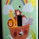 NOAHS ARK LIGHT SWITCH PLATE Single Switch Plate Cover CUTE Nursery Decor