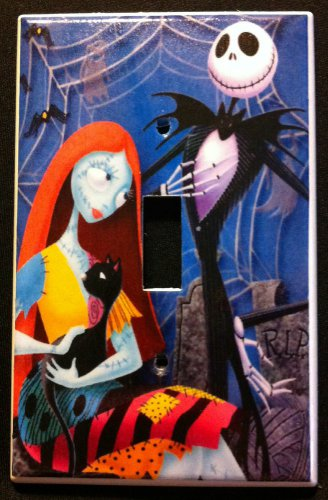 NIGHTMARE BEFORE CHRISTMAS LIGHT SWITCH COVER  JACK & SALLY Single Switch Plate