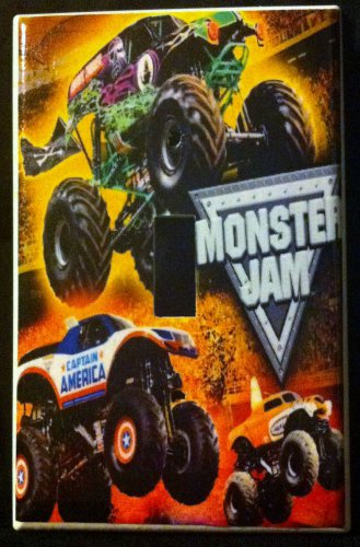 MONSTER JAM MONSTER TRUCKS LIGHT SWITCH COVER LOOK Single Switch Plate design 2