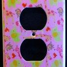 Jungle Jill OUTLET plate Pink Giraffe Zebra Elephant Monkey CUTE outlet cover