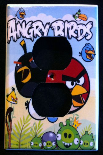 ANGRY BIRDS OUTLET COVER Cool Room Decor Outlet Plate Cover faceplate