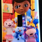 DOC MCSTUFFINS LIGHT SWITCH COVER Lambie Chilly Hallie Stuffy Switch plate CUTE