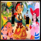 JAKE and the NEVERLAND PIRATES DOUBLE LIGHT SWITCH COVER Switch plate CUTE