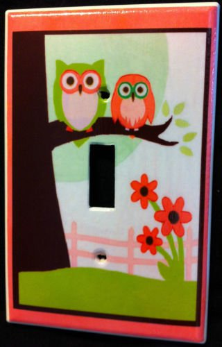SWEET DREAM OWL LIGHT SWITCH plate Pam Grace Owls single switch plate