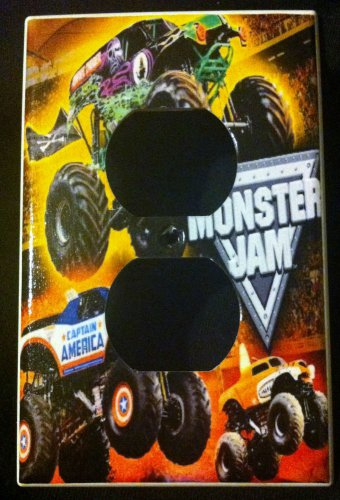 MONSTER JAM MONSTER TRUCKS OUTLET COVER LOOK Outlet Plate Cover design 2