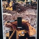 CONSTRUCTION TRUCKS LIGHT SWITCH COVER LOOK Single switch plate Dump Truck