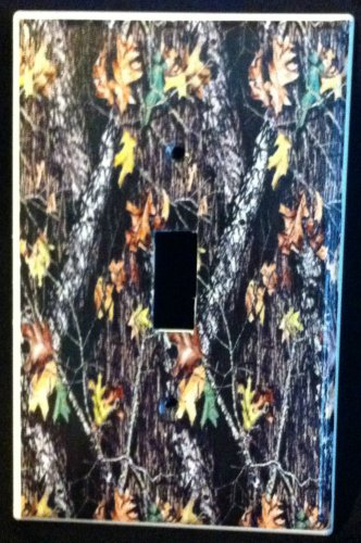 MOSSY OAK BREAKUP CAMOFLAUGE LIGHT SWITCH Plate Camo Single Switch Cover