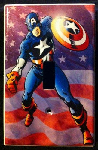 MARVEL CAPTAIN AMERICA LIGHT SWITCH COVER Design B Single Switch American Flag