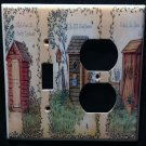 Linda Spivey OUTHOUSES LIGHT SWITCH & OUTLET COVER light switch & outlet combo