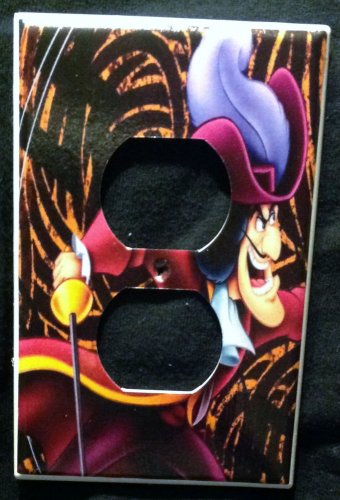 Disney Villain CAPTAIN HOOK COVER electrical outlet faceplate Peter Pan