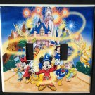 Disney Classics MICKEY MOUSE DOUBLE LIGHT SWITCH COVER Disneyland Mickey & Pals
