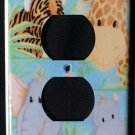 JUNGLE BABIES OUTLET COVER Giraffe Elephant Hippo Tiger Patty Reed Outlet plate