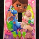 DOC MCSTUFFINS LIGHT SWITCH COVER Lambie Hallie Stuffy Single Switch plate Pink