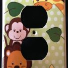 Jungle Safari Animals OUTLET plate Monkey Lion & Giraffe outlet plate cover CUTE