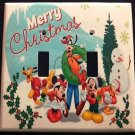 Disney MICKEY MOUSE Christmas DOUBLE LIGHT SWITCH COVER Mickey Minnie & Friends