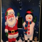 CHRISTMAS Decor Santa & Snowman  Single LIGHT SWITCH COVER Single switch plate
