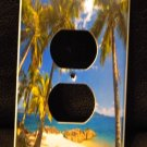 TROPICAL PALM TREES OUTLET COVER Beach Decor Palm Trees outlet plate cover
