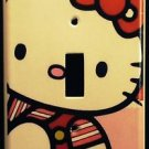 HELLO KITTY LIGHT SWITCH plate single switch plate Adorable! Pink & Red