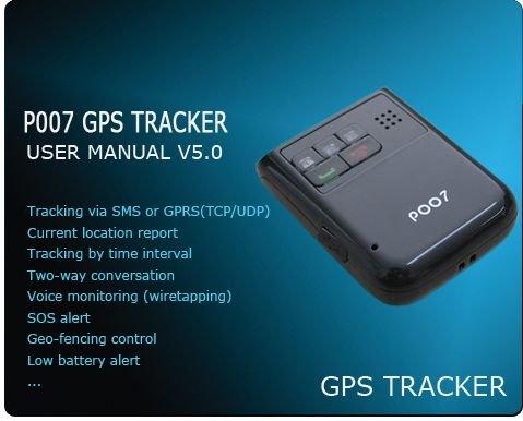 Personal GPS Tracker SGT007 Motion sensor ,speed alert ,SOS talk,Geo-fencing