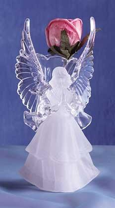 Acrylic Frosted Vase - Angel (Item # 29142)