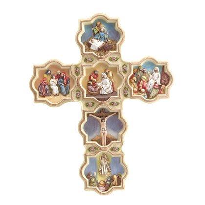 Alabastrite Life Of Jesus Cross - Wall Plaque (Item # 30722)