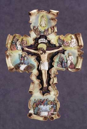 Life of Jesus Scroll Wall Cross (Item # 34090)
