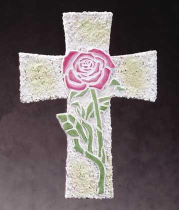 Rose Mosaic Wall Cross (Item # 34258)