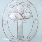 Capiz Shell Cross Suncatcher (Item # 34520)