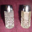 Antique Crystal Salt & Pepper Shakers