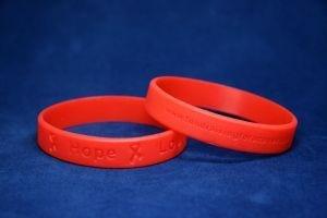 Red Ribbon Silicon Bracelet