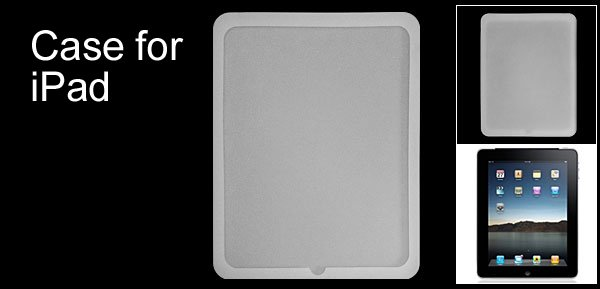 Nonslip Back Cover Silionce Skin Case for Apple iPad