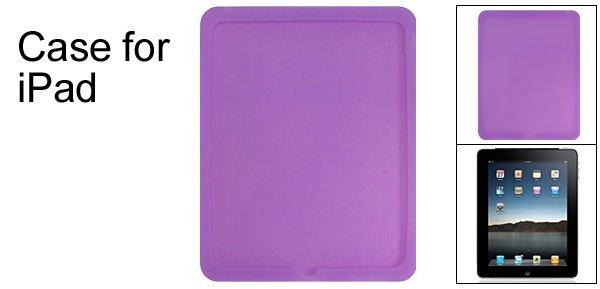 Protector Case Back Silicone Skin for Apple iPad Purple