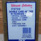 """PKK Ultimate Collection #5732 Plastic Double Card Holder 4.5"""" X 6.5"""" X 1/4"""" NEW"""