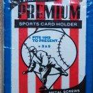 "PREMIUM Plastic Sports Card Holder 3""X 5""X 1/4"" Fits 1952 to present BRAND NEW!"